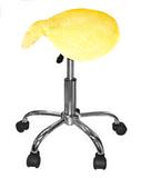 Badstof hoes geel voor zadelkruk