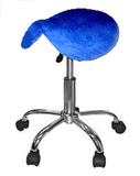 Badstof hoes blauw voor zadelkruk